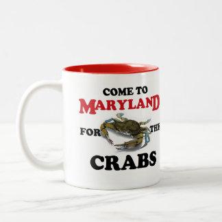 Venido a Maryland para la taza de los cangrejos