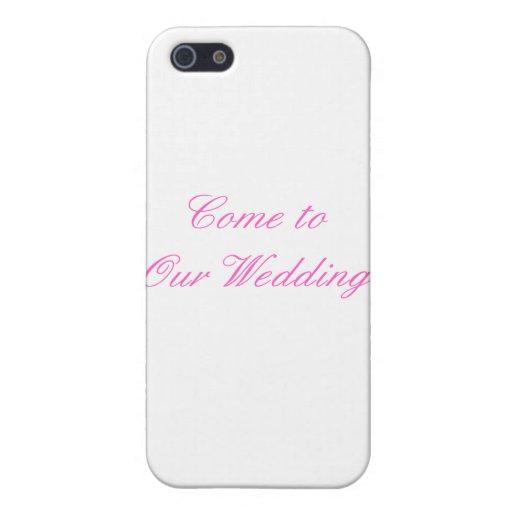 Venido a nuestra magenta del boda el regalo de Zaz iPhone 5 Fundas