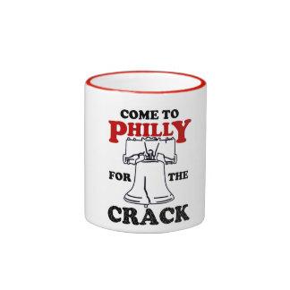 Venido a Philly para la taza de la grieta