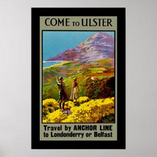 Venido a Ulster Póster