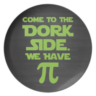 Venido al lado del Dork. Tenemos pi (empanada). Plato De Cena
