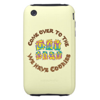 Venido al lado gay iPhone 3 tough cárcasas