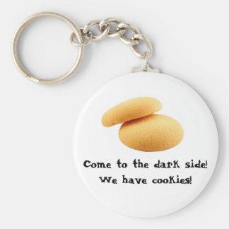 ¡Venido al lado oscuro! ¡Tenemos galletas! Llavero Redondo Tipo Pin