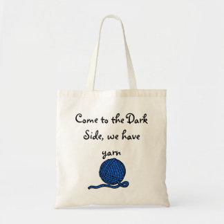 Venido al lado oscuro, tenemos hilado bolsa tela barata