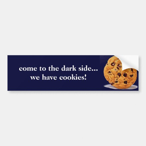 venido al lado oscuro tenga palillo del parachoque etiqueta de parachoque