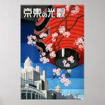 Venido al poster del viaje de Japón del vintage de