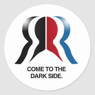 Venido al Side.png oscuro Pegatina Redonda