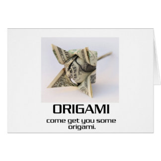 Venido consígale algún Origami Tarjeta De Felicitación