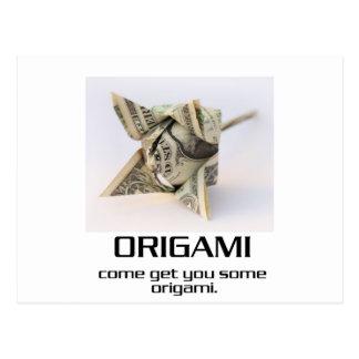 Venido consígale algún Origami Tarjetas Postales