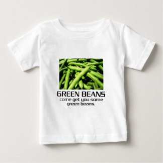Venido consígale algunas habas verdes camisas