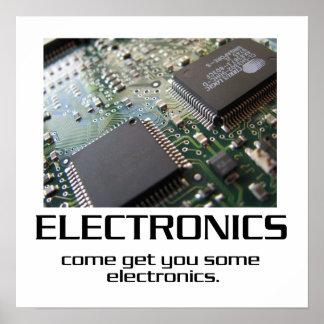 Venido consígale un poco de poster de la electróni