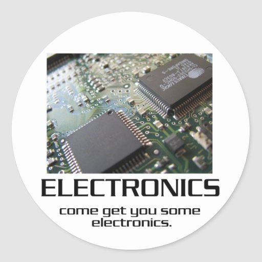 Venido consígale una cierta electrónica pegatina redonda