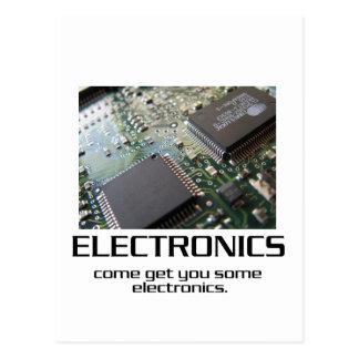 Venido consígale una cierta electrónica tarjetas postales