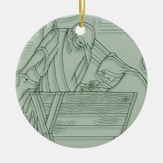 Venido déjenos lo adoran ornamento del navidad ornatos