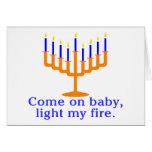 Venido en bebé, encienda mi fuego tarjetón