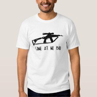 Venido en mí, bro - camiseta del Favorable-arma Remeras