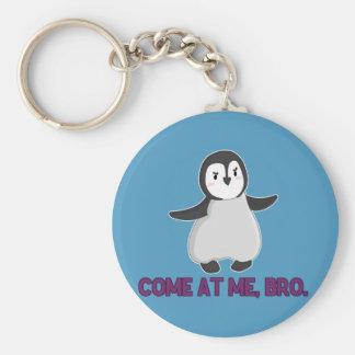 Venido en mí llavero del pingüino de Bro