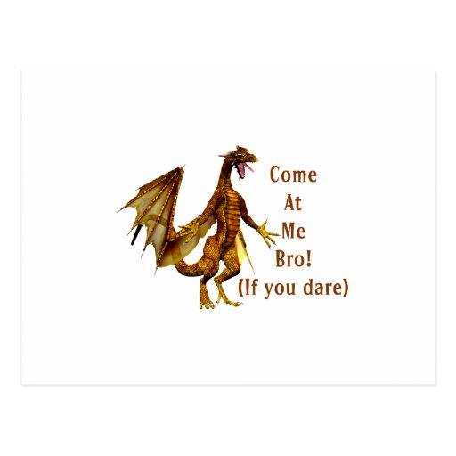 venido en mí naranja del dragón del bro postales