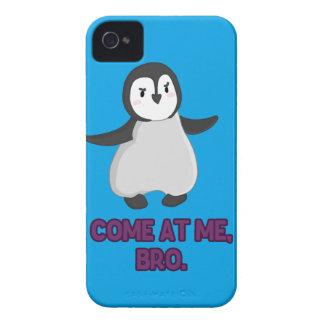 Venido en mí pingüino de Bro Case-Mate iPhone 4 Protectores