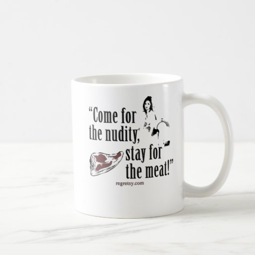 Venido para la desnudez tazas de café