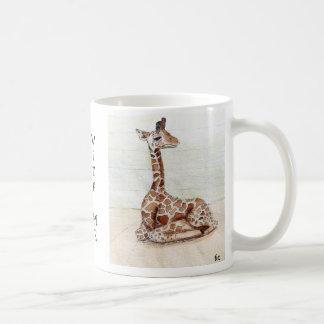 """""""Venido siéntese con la taza de la jirafa de Me"""