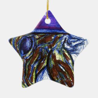 Venimos de otros mundos adorno navideño de cerámica en forma de estrella