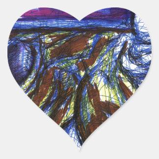 Venimos de otros mundos pegatina en forma de corazón