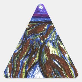 Venimos de otros mundos pegatina triangular