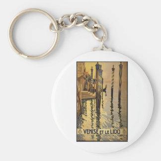 Venise et le Lido 1920 Venice, Italy Keychain