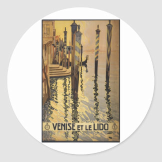 Venise et le Lido 1920 Venice, Italy Round Stickers
