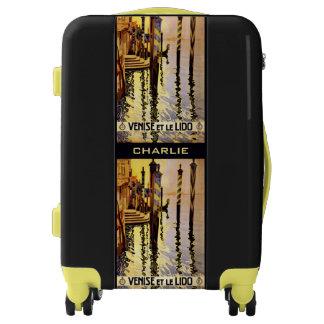 """Venise et le Lido"" Italy custom name luggage"