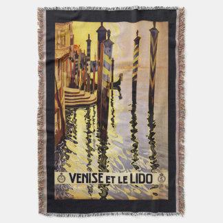 """""""Venise et le Lido"""" Italy vintage travel blanket"""