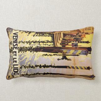 """""""Venise et le Lido"""" Italy vintage travel pillow"""