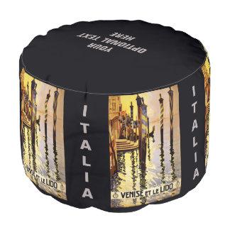 """""""Venise et le Lido"""" Italy vintage travel pouf"""