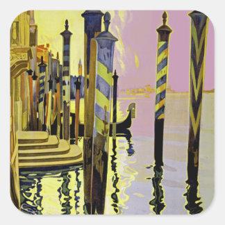 Venise et le Lido Square Sticker