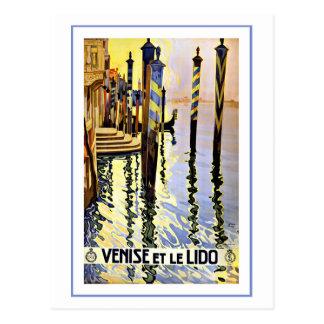 Venise et le Lido Venice Italy Postcard