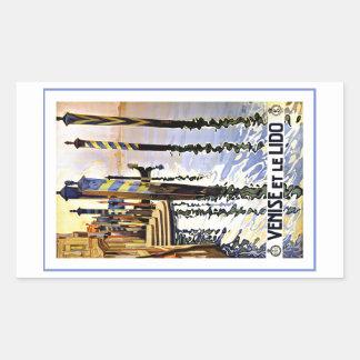 Venise et le Lido Venice Italy Rectangular Sticker