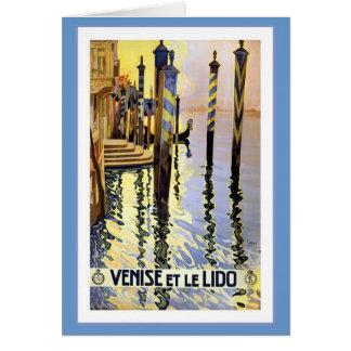 Venise Et Le Lido Vintage Card