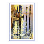Venise Et Le Lido Vintage Postcard