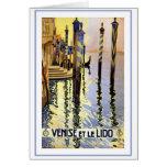 Venise Et Le Lido Vintage Stationery Note Card