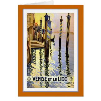 """""""Venise et le Lido"""" Vintage Travel Poster Card"""