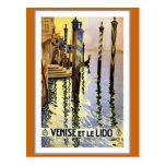 """""""Venise et le Lido"""" Vintage Travel Poster Post Cards"""