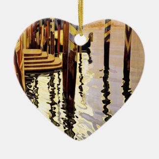 Venise y le Lido Adorno De Cerámica En Forma De Corazón