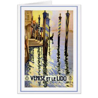 Venise y Le Lido Vintage Felicitacion