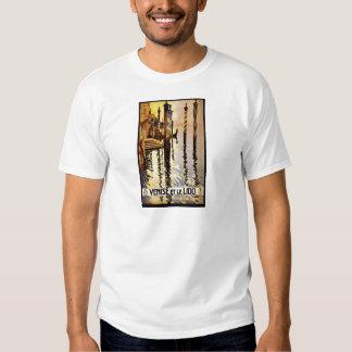 Venise y poster del viaje de le Lido Vintage Camisas