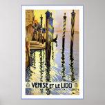 """""""Venise y poster del viaje del vintage de le Lido"""""""