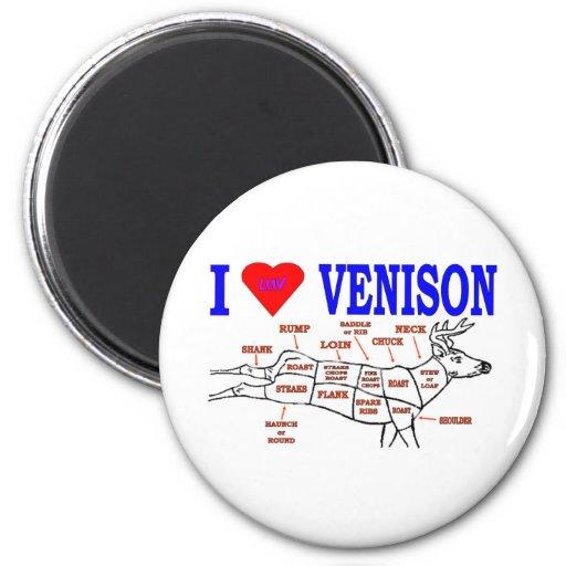 VENISON 2 INCH ROUND MAGNET