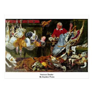 Venison Dealer By Snyders Frans Postcard