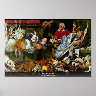 Venison Dealer By Snyders Frans Poster