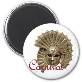 Venitian Carnival Mask 2 Inch Round Magnet